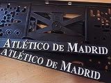 Atletico de Madrid 3D Effekt Lizenz Kennzeichenhalter Nummernschildhalter 2stück