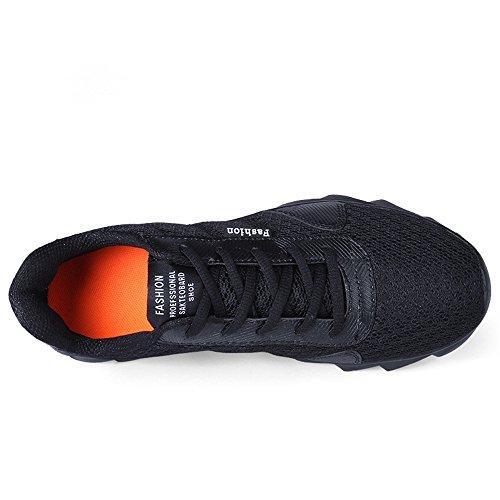Herren Damen Erwachsene Sneakers Turnschuhe Freizeitschuhe Laufschuhe Sportschuhe Schwarz