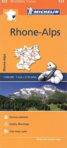 Mapa Regional Francia Rhone Alpes (Carte regionali)