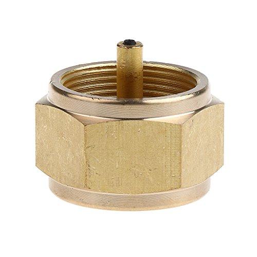 perfk Universal Gas Tank-Refill-Adapter aus Metall für Alle Tank klein - Kupfer Gold -