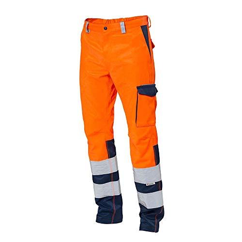 Pantalone da Lavoro 25PA1140 SIGGI Arancio/Blu Alta VISIBILITA' Multitasche (L)