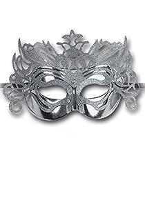 Carnival Toys 1648-Máscara, plástico, Plata