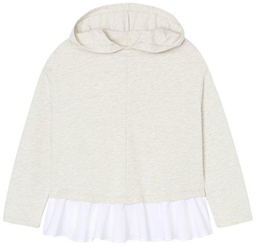 FIND Damen Pullover mit Schößchen Grau (Grey Mix)