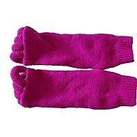 PvxgIo - Calcetines de Masaje para Yoga, Gimnasio, Masaje, Dedos de los pies, Calcetines separadores para aliviar el Dolor de pies, Color Rosa roja, tamaño Talla única