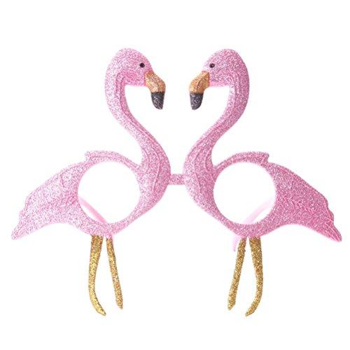 WMING Home Glitzerte rosa Flamingo Sonnenbrillen Party Brillen Neuheit Eyewear für Kinder Kostüm