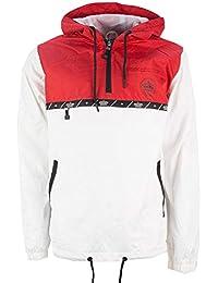 Mens Soulstar Designer Impact Two Tone Coloured Hooded Shower Proof Jacket