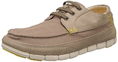 Crocs Men's Stretch Sole Lace-up M Tumbleweed and Stucco Loafers and Mocassins - 6 UK