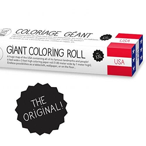 my o OMY USA Giant Färben Rolle, Papier, Mehrfarbig, 2x große