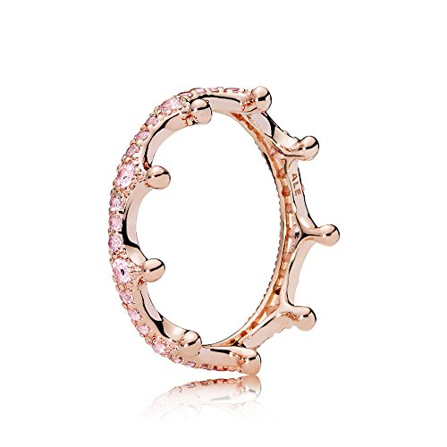 Pandora Stories Damenring Pink Enchanted Crown Pandora Rose 54 (17,2 mm)