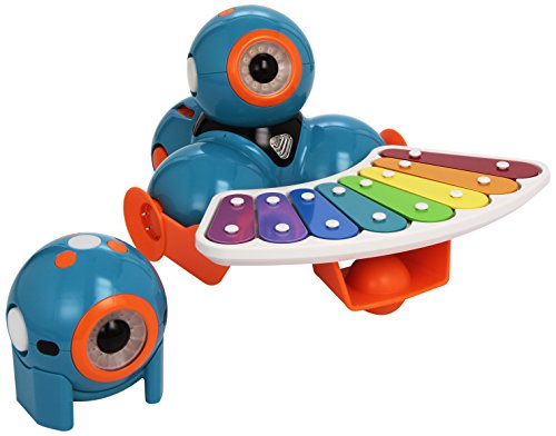 41KsW%2BgObYL - Wonder Workshop - Pack Robots educativos Dash y Dot con Set Completo de Accesorios (WB03)