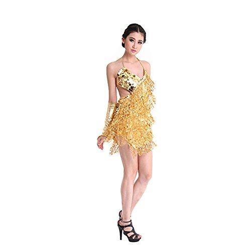 Gyratedream sexy Frauen kostüm Pailletten quaste Latin Rumba Dancewear Square Dance Strap ()