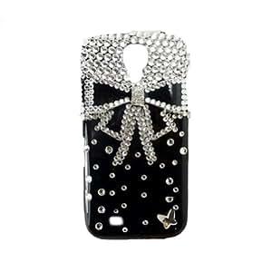 BeautyGuard pour Samsung Galaxy S4 Mini Coque Housse Etui Case Cover Original Bling Glitter Perle Strass nœud à deux boucles Créature (pas pour galaxy S4) (Noir)