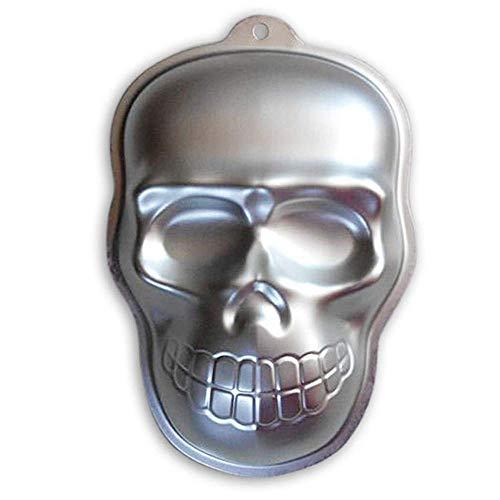 QWhing Festival-Maske Halloween Aluminium Super Big Schädel Cartoon Backform DIY Antihaft Backen Werkzeug Form Tray-2 Stücke Kostüm ()
