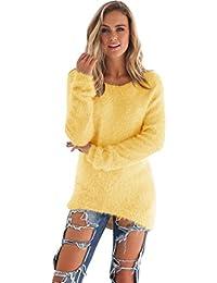 Amlaiworld Sweatshirts Winter bunt plüsch locker pullis Damen komfortabel  Sport Sweatshirt warm flauschig Lang Pullover ca21d12e11