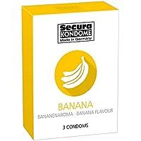 Preisvergleich für Secura Banana 3 Bananenkondome, fruchtiger Geschmack, Kleinpackung Kondome, Limited Edition, Summer Edition