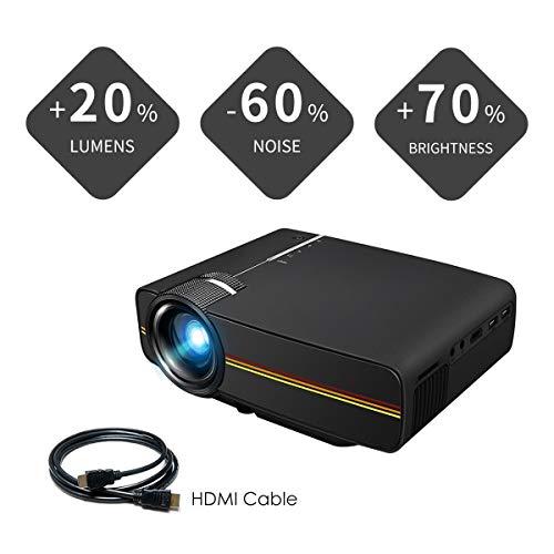 AI LIFE 3500 Lumen LED-Filmprojektor Unterstützt 1080P 150 '' tragbaren Mini-Projektor Ideal für Heimkino Video Entertainment Games Party 13.12 Video