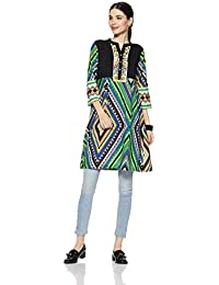 Rain And Rainbow Women's Straight Kurta