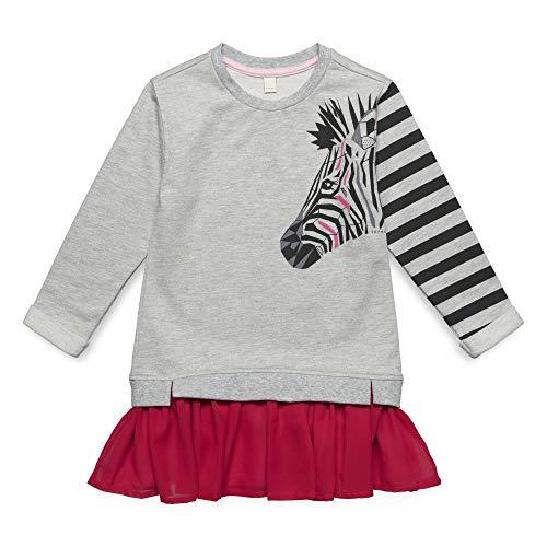 (ESPRIT KIDS Mädchen Knit Dress Kleid, per Pack Silber (Heather Silver 223), 116 (Herstellergröße: 116+))