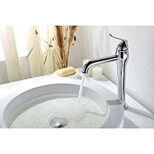 LY Messing verchromt zeitgenössische Einlocharmatur Griff Einzigartige Waschbecken Wasserhahn