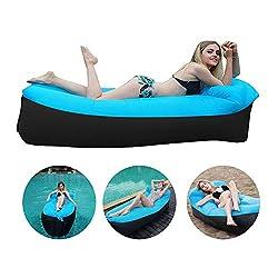 Modrad Aufblasbares Sofa Outdoor Luftsofa Wasserdicht Air Sofa Couch Strandsofa Luftsack Strand mit Tragebeutel für Camping und Garten