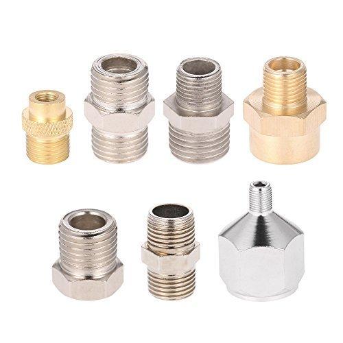 KKmoon 7 Pezzi Kit adattatore Airbrush Raccordo di Montaggio per Compressore e Tubo Airbrush