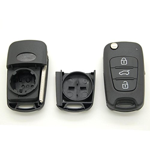 Hyundai - Carcasa de llave para mando a distancia de 3 botones para Hyundai I30, IX30 e IX35