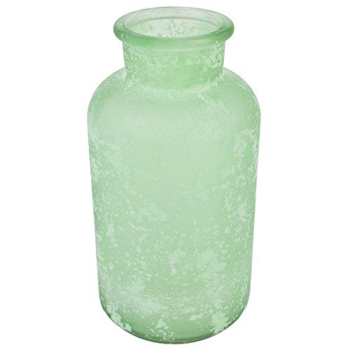 Botella Jarrón Decorativo (Cristal, 20x 10x 10cm mesa decoración, vidrio, verde menta,...