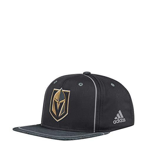 adidas Vegas Golden Knights Bravo Snapback NHL Cap, One Size Adidas Spandex Cap