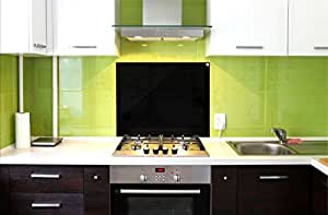 Paraschizzi pannello in vetro di protezione per cucina anti schizzo paraspruzzi nero 75 - Pannelli paraschizzi per cucina ...