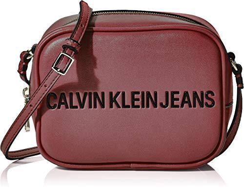 Calvin Klein Damen Sculpted Camera Bag Umhängetasche, Violett (Beet RED), 12x17x8cm