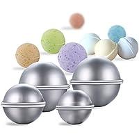 Zantec 8 Piezas DIY Metal Bath Bomb Mold Set con 3 tamaños Aluminum Alloy Bomb Balls Molds para la elaboración de tus propios Fizzles