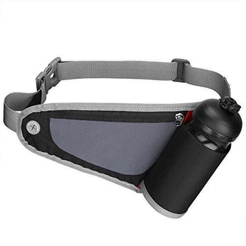 G4Free Correr Cinturón de Hidratación para Corredores Riñonera con Botella de Agua (no incluido) Soporte para Deportes al Aire Iibre Corriendo Ciclismo Senderismo, Negro