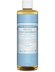 DR. BRONNER'S - Savon Liquide Vegan 18 en 1 pour Bébés et les Peaux Sensibles - Nettoyage et Bien-être pour la Personne et la Maison - avec Huiles Bio, Biodégradable, pour Toutes les Peaux - 473 ml