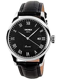 25416dc79f60 Relojes Hombre Calendario con Dial del patrón del Enrejado