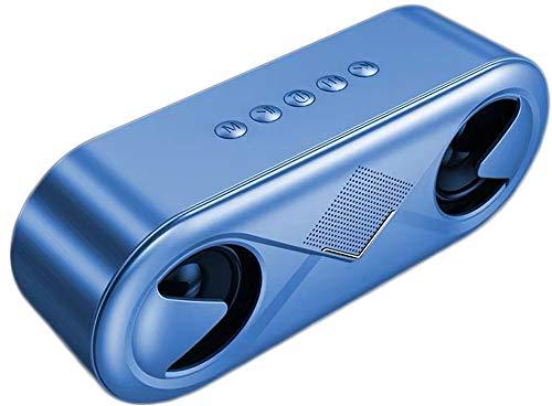 Bluetooth-Lautsprecher Drahtloser 3D-Surround-Subwoofer Tragbarer Home-Card-U-Disk-Player Für Mobile Computer Im Freien,Blue Dual-10 Subwoofer-box