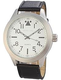 Excellanc 295022000171 - Reloj de pulsera hombre, varios materiales, color negro