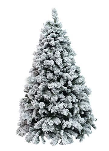 Xone albero milton innevato 240 cm | albero artificiale bianco | albero di natale con neve pp+pvc effetto aghi di pino