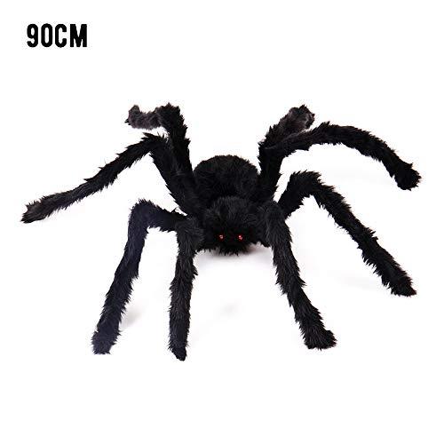 -Spinnen-Prop, Stimulieren Scared kreative Dekoration, Schwarz Plüsch Spinne für Bar Heim- und Halloween ()