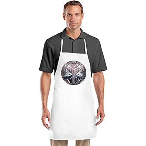 The Iron Banner Emblem Grembiule da Cuoco Top Quality Chef's Apron  Custom Printed  Available In 2 Sizes For Women & Men  100% Durable Polyester  Premium Kitchen Supplies For Bars/Bistros & Home By