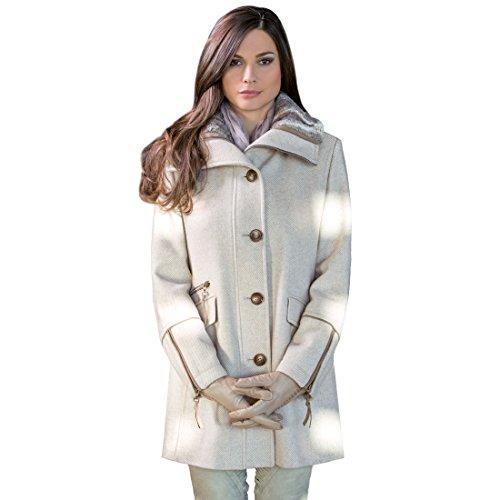 Damen-Mantel JIL beige, Gr. 42 - (20255/60413/32/GR42)