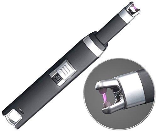 PEARL Stabfeuerzeug: Elektronischer Lichtbogen-Stabanzünder, USB, 100 Zündungen pro Ladung (Lichtbogenanzünder)