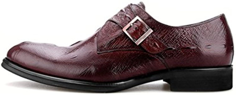 LYZGF Männer Gentleman Business Casual Jugend Martin Stiefel Mode Lederschuhe