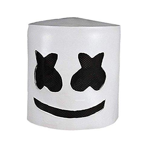 Zfggd Marshmallow DJ Kopfbedeckungen Kopfbedeckungen Maske Cos Halloween Party Prom