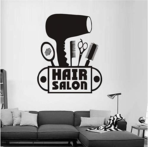 Sshssh adesivo da parete rimovibile da parrucchiere parrucchiere asciugacapelli logo decalcomania vinilica acconciature home interior decor adesivo per finestra