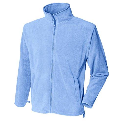 New hendury Pull en Micropolaire pour Femme Fermeture Éclair intégrale Coque Casual Polyester Vestes Haut - Bleu - XL