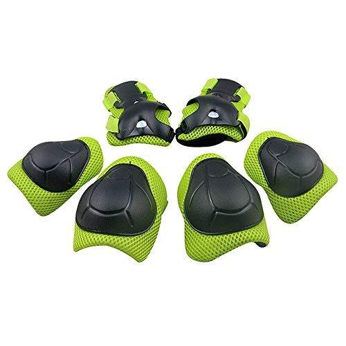 GIM Schoner Set Kinder Protektoren Sets für Knie und Ellenbogen Knieschoner Handgelenkschoner Ellenbogenschoner Schutzausrüstung für Jungen Mädchen beim Inlineskaten, Schlittschuhlaufen oder Scooterfahren