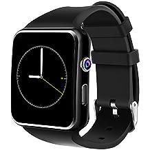 Smartwatch Android, DeYoun Reloj Inteligente Bluetooth Smart Watch Teléfono con SIM / TF Ranura Análisis de Podómetro para Android Samsung Galaxy S8/S7 ZTE LG Huawei Moto iOS (Funciones Parciales)