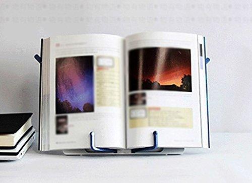 Estanterías de lectura portátiles para libros Student 267 * 195mm Black White ( Color : Blanco )