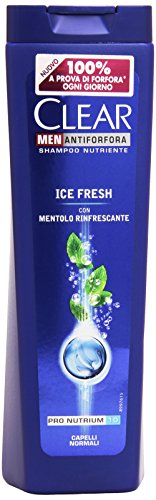 Clear - Shampoo, Nutriente Ice Fresh Con Mentolo Rinfrescante -  250 Ml