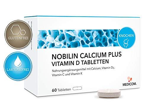 Calcium Plus Vitamin D Tabletten (Calcium Plus Vitamin D Tabletten - 120 Stück, natürliches Vitamin D (Cholecalciferol) + Vitamin C + Vitamin K/Für Knochen und Zähne)